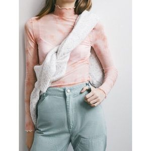 URBAN OUTFITTERS Mesh Mock Neck